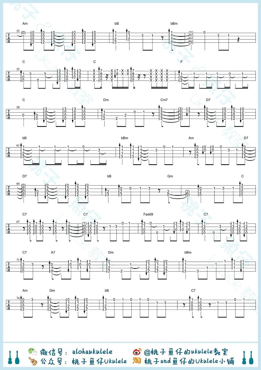 龙猫主题曲尤克里里指弹谱