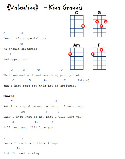 Valentine》尤克里里谱