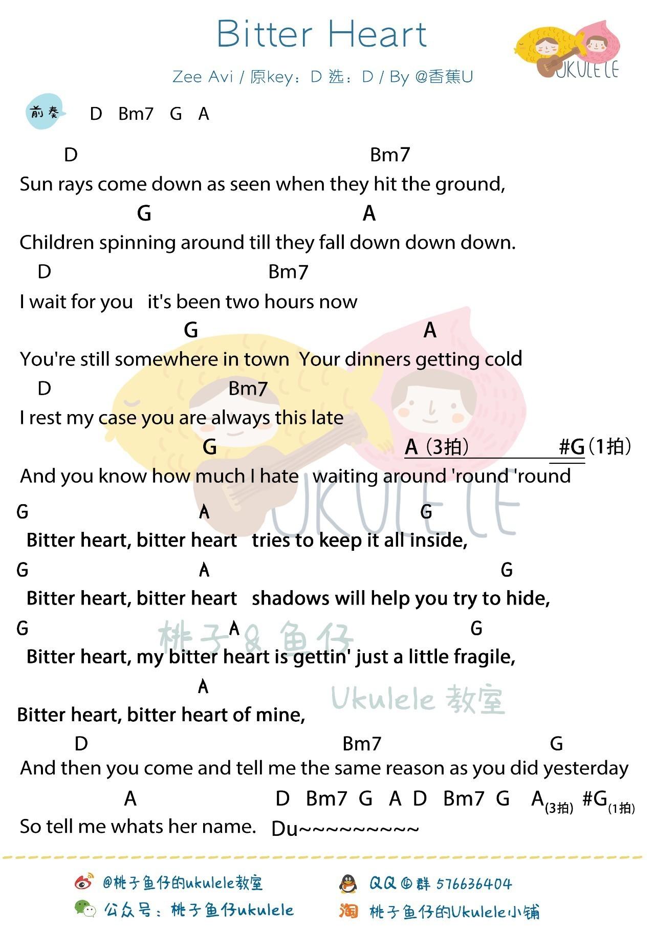 《Bitter Heart》尤克里里谱