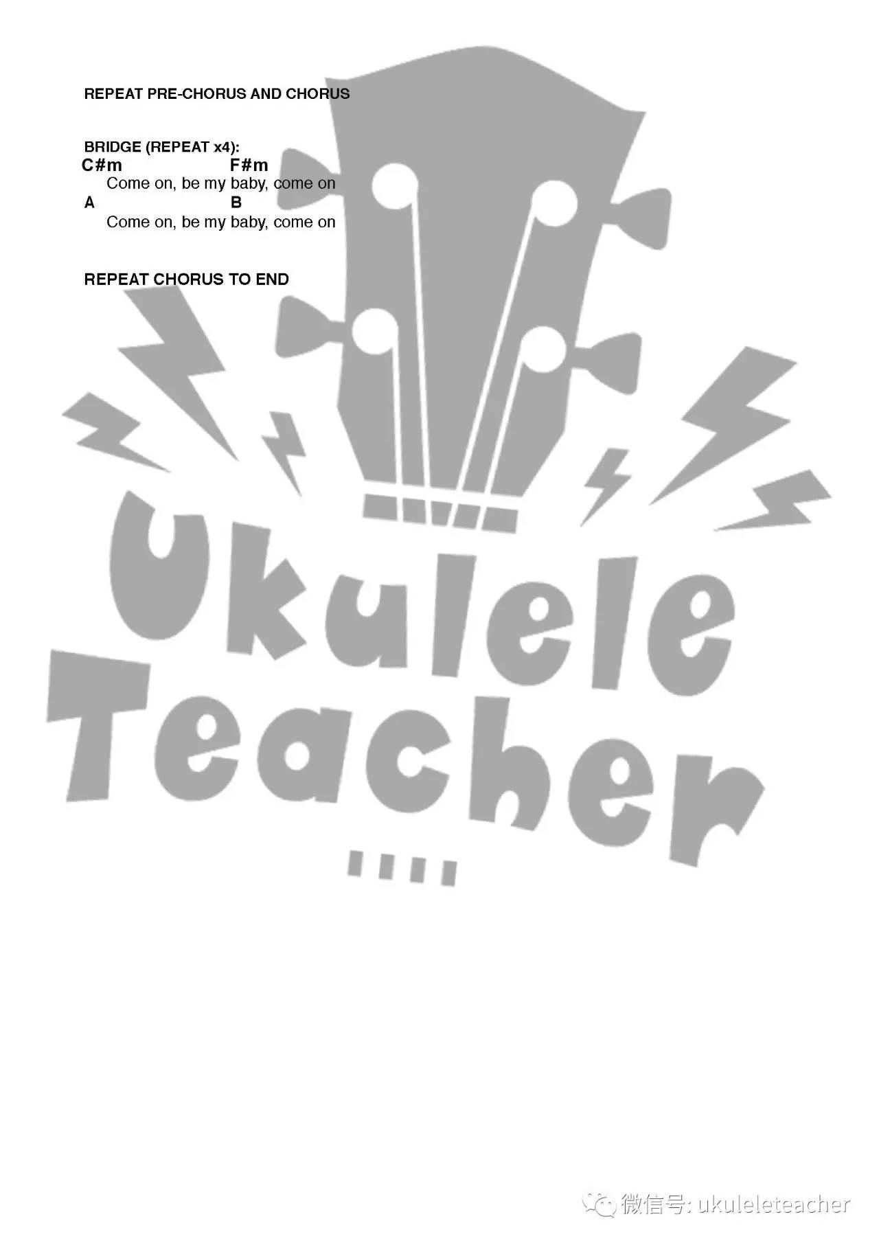 《shape of you》ukulele谱