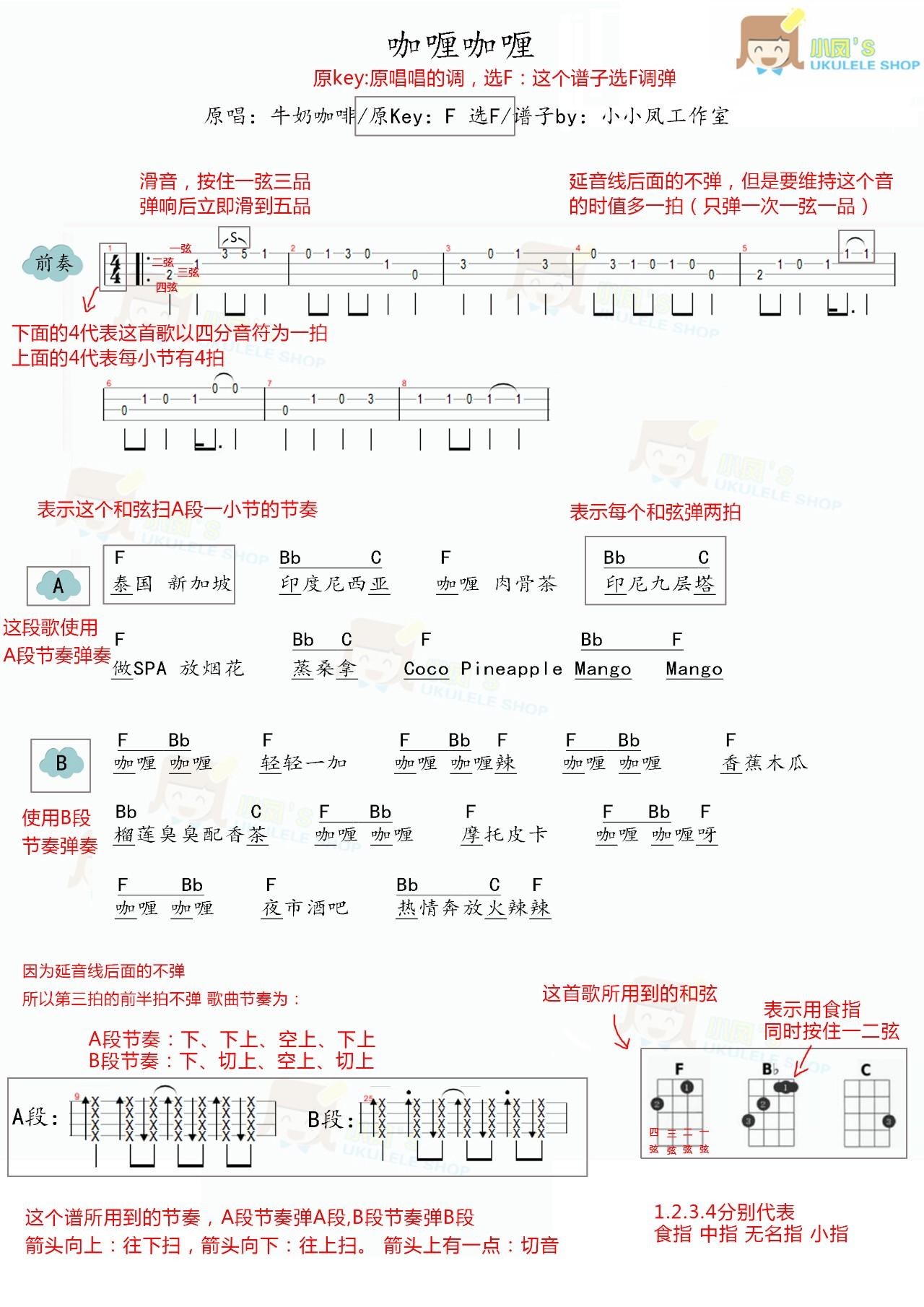 看懂和弦谱