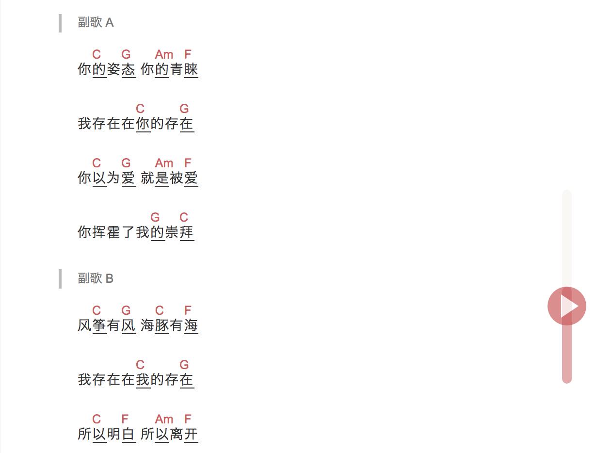 《崇拜》高清六线谱